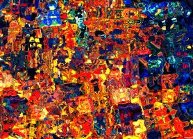 The diversity of cultures(Action Painting) by moppaa