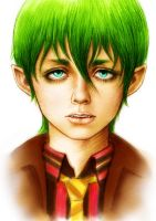 Green portrait by SillyMysteriousWoman