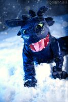Toothless - How to Train Your Dragon by Pugoffka-sama