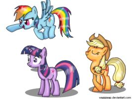 fave ponies yay by wazzzaap