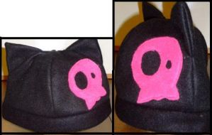 Black Kitty - Pink Skull by Ay-and-Tays-Hats