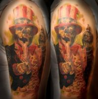 Zombie tattoo by tat2shippey