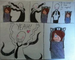 Switching Bodies with the Slenderman by fishbowlspace