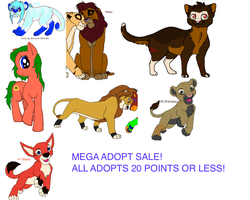 ADOPT SALE by thatgirlwithwings