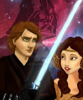 Anakin And Padme - Poster by lisuli79