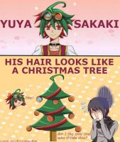 Yuya Sakaki Christmas Tree Hair by Awesomeness02