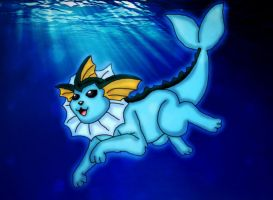 Vaporeon by kaitlynrager