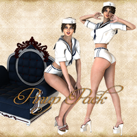 Premium Pinup Sailor Pack 02 by Just-A-Little-Knotty