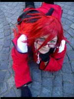 Grell Cosplay Angel Eyes by Moin2D