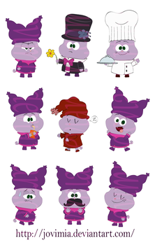 _OldDrawings_1_Chowder Poses by Jovimia
