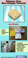 POLYMER CLAY Rice Krispie Treat Tutorial by GrandmaThunderpants