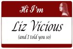 Liz Vicious Name Tag by YoungHowardFinster