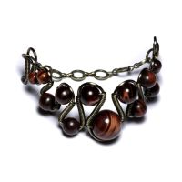 Steampunk Tiger eye bracelet by CatherinetteRings