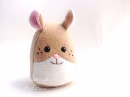 Stuffed Hamster Plushie in Tan and Cream by Saint-Angel