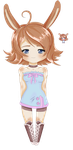 Bunny girl + Pixel Icon -Point Adoptable-Open by MagicMoonBird