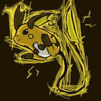 Scribble Raichu by Kirimori