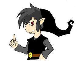 Shadow Link -done in paint- by saria-the-elf