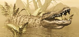 Deinosuchus Giant Crocodile Legend Of Texas. by TeddyBlackBear2040