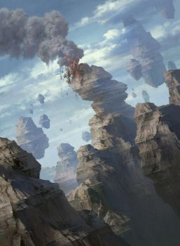 Magic the Gathering Basic Lands Mountain by FLOWERZZXU