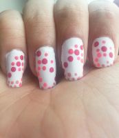 Flower Abstract Dotticure Nail Art by DyeritsoJazzy