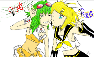 Rin and Gumi Coloured by Eye-Wuv-Manga124