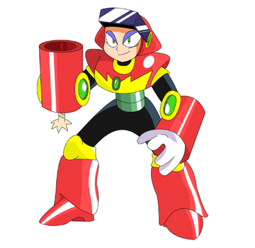 Old MegaMan Stuff: Flare Woman by Mr-Tea-and-Crumpets