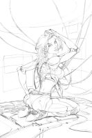 Fallen pinup 3 pencil by cehnot