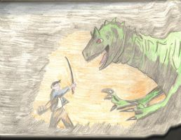 Hiro and the Dinosaur by Mr-Saxon