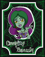 Scary tales oc :Creeping Beauty: by SC-chibi-fran
