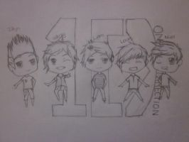 One Direction outline by tomboyrulez99