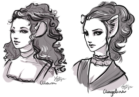 alara and angeline by tourtu
