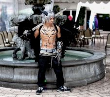 Shirtless Cosplay- Modified Devil Jin by Jrzil4shizzle