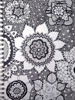 Flower Mandala by crazycatlacee