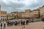 rainy day over Siena - Piazza del Campo by Rikitza