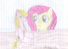 fluttershy and big machinplushy by pegasister333