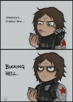 Bucky's make-up tutorial by Zoubstance