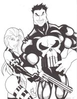 Psylocke and The Punisher by maxspider72