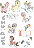 Awesome MLP Adoptables! Prices reduced! by Pepper-Head