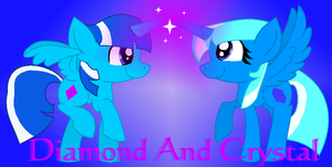 Diamond and Crystal (Request) by StarHeartWaveSong