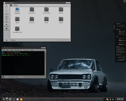 December screenshot Archlinux KDE by Blitz-Bomb