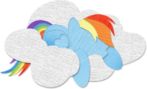 Canvas Paper Rainbow Dash by Saw-Buck