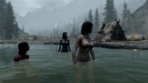 Skinny Dipping at hunters camp 4 of 4 - Skyrim by Jace-Lethecus