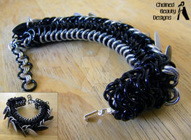 Black Dragon Bracelet by ChainedBeauty