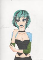 Total Drama- Gwen (in color) by PersephoneKat