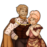 King Alexander and Queen Elizabeth GIngerbread by GingerQuin