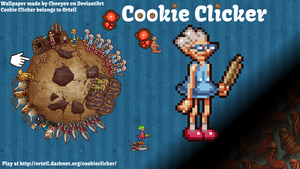1600x900 Cookie Clicker Wallpaper by Cheeyev
