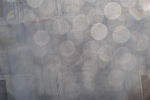 Bokeh texture - raindrops on sunny window by Muse-of-Stock