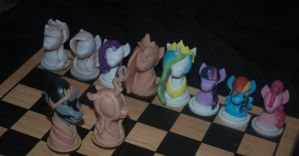 MLP chess set update by Blindfaith-boo