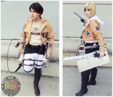 Eren Jaeger and Annie Leonhardt Cosplay by Nao-Dignity