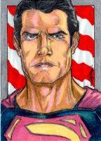 Man of Steel Sketch Card by Dingodile24